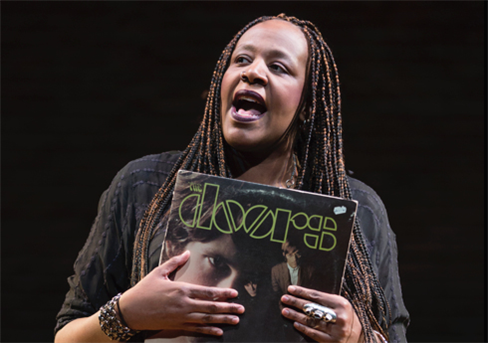 Dael Orlandersmith rhapsodizing about the power of music