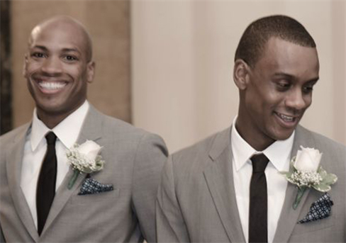 L to R: Antonio and Kirven Douthit-Boyd on their wedding day