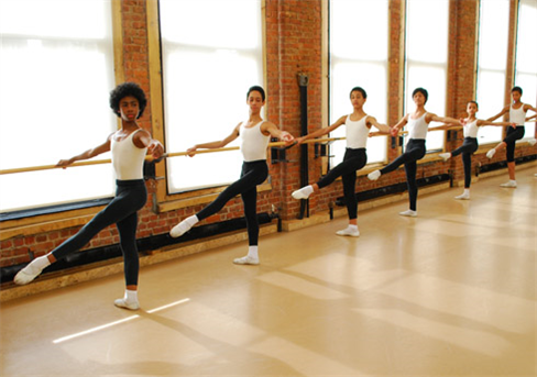 Ballet Tech students in class