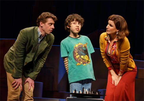 L to R: Christian Borle, Anthony Rosenthal, and Stephanie J. Block