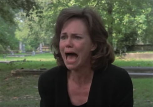 Sally Field flawlessly playing the Southern heroine in