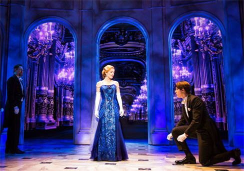 Christy Altomare and Derek Klena in the Broadway production. (Photo by Matthew Murphy.)