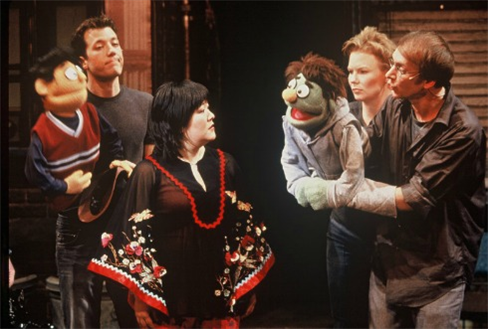 Ann Harada, center, in the original Vineyard Theatre production of