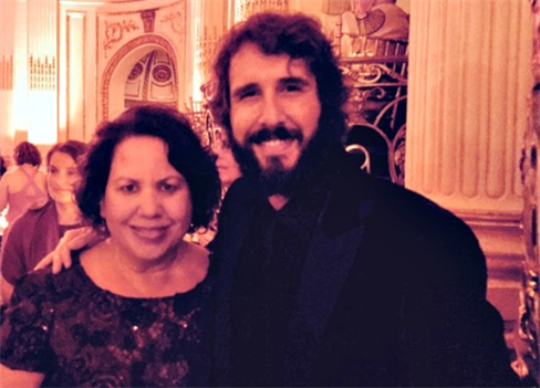 The author with Josh Groban, star of
