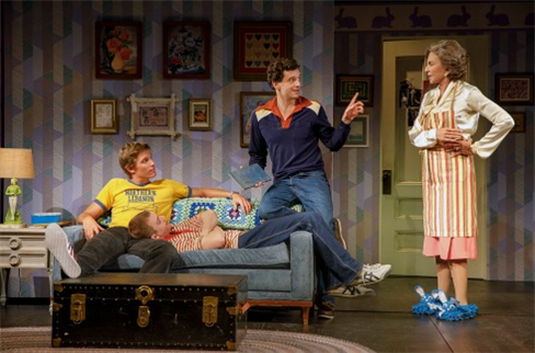 Ward Horton, Jack DiFalco, Michael Urie, and Mercedes Ruehl in
