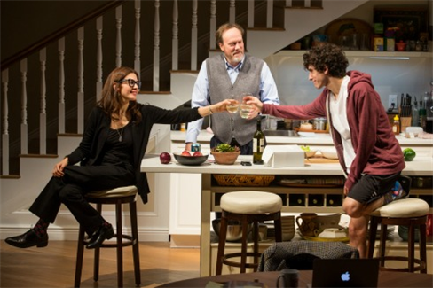 Jessica Hecht, Andrew Garman, and Ben Edelman in