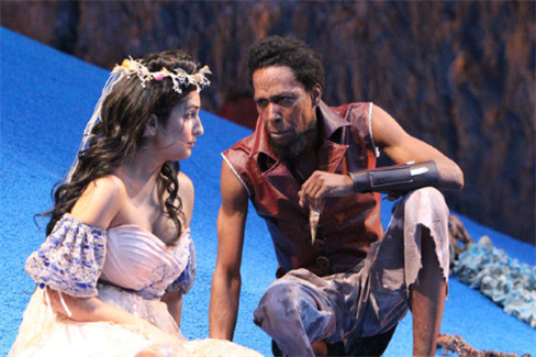 Kimberly Chatterjee and Ron Cephas Jones in Classical Theatre of Harlem