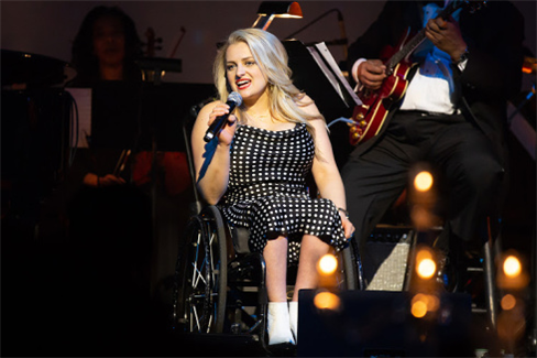 Ali Stroker at the TDF Gala; photo by Jeremy Daniel