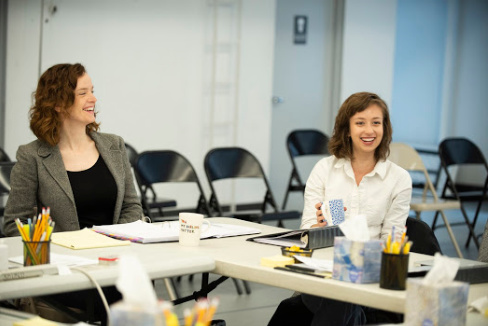 Director Margot Bordelon and playwright Selina Fillinger in rehearsals for