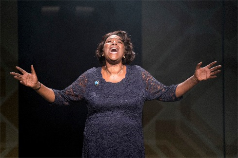 Sharon D. Clarke in the London production of
