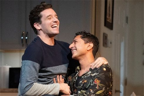 Michael Urie and Maulik Pancholy in