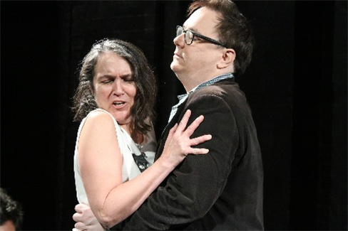 Ayun Halliday and Patrick McCartney in rehearsal for