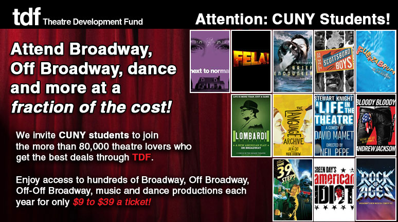 TDF CUNY Students Discount Offer